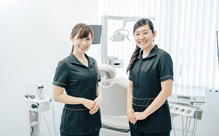 自由が丘の歯医者三好歯科自由が丘の専門知識のある歯科衛生士2名の画像