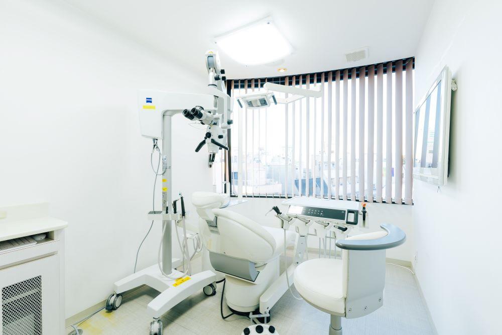 三好歯科 自由が丘マイクロスコープのある診療室